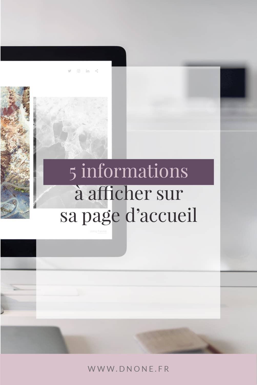 Épingle Pinterest 5 informations à afficher sur sa page d'accueil