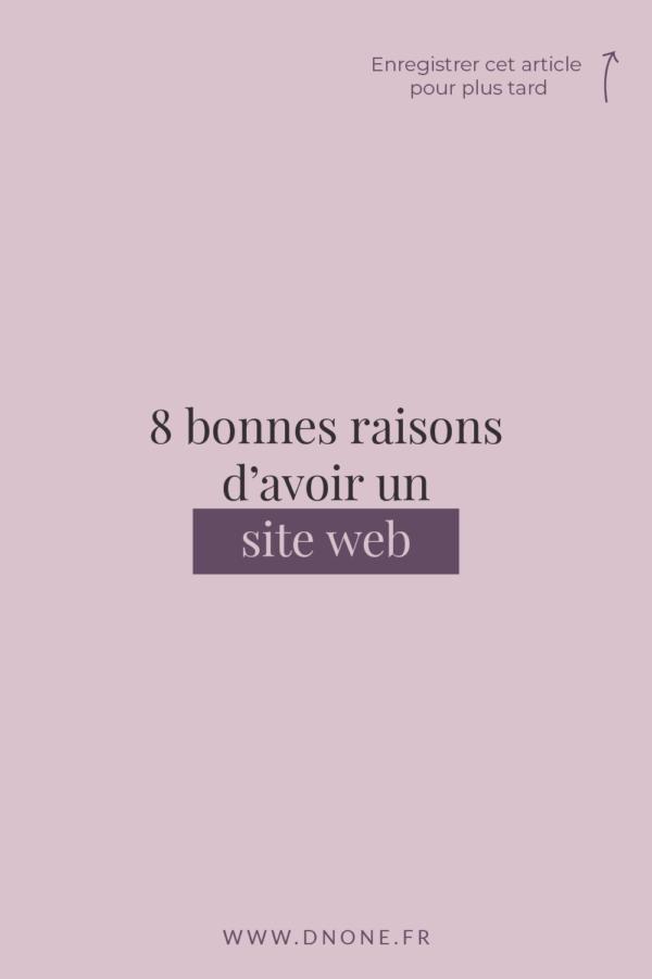 8 bonnes raisons </br>d'avoir un site web