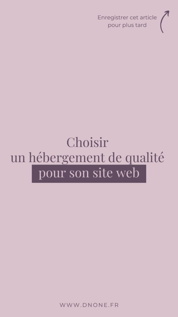 Choisir un hébergement de qualité pour son site web