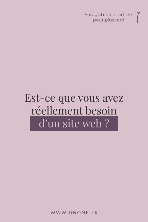 Est-ce que vous avez réellement besoin d'un site web ?