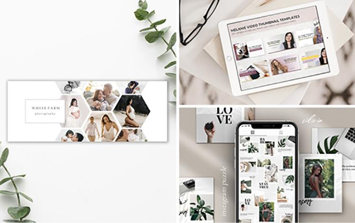 Gestion des réseaux sociaux et création de l'univers graphique de la marque - Pack Premium Display None