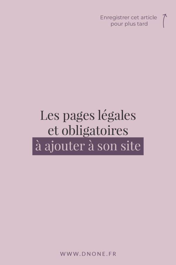 Les pages légales et obligatoires à ajouter à son site