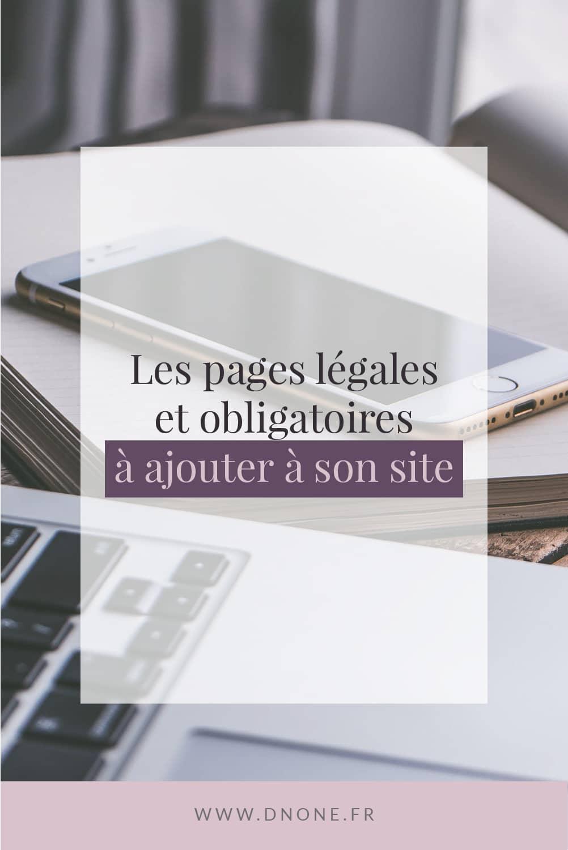 Épingle Pinterest Les pages légales et obligatoires à ajouter à son site