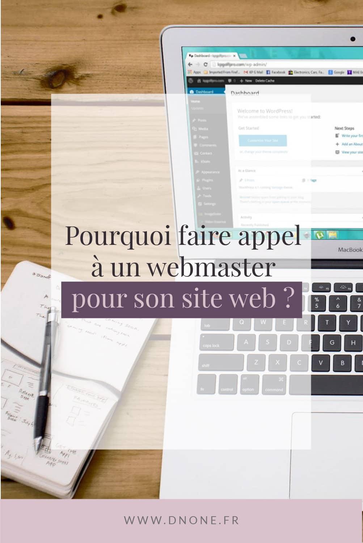 Épingle Pinterest Pourquoi faire appel à un webmaster pour son site web ?