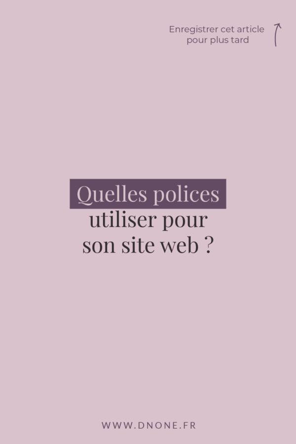 Quelles typographies web utiliser pour son site ?